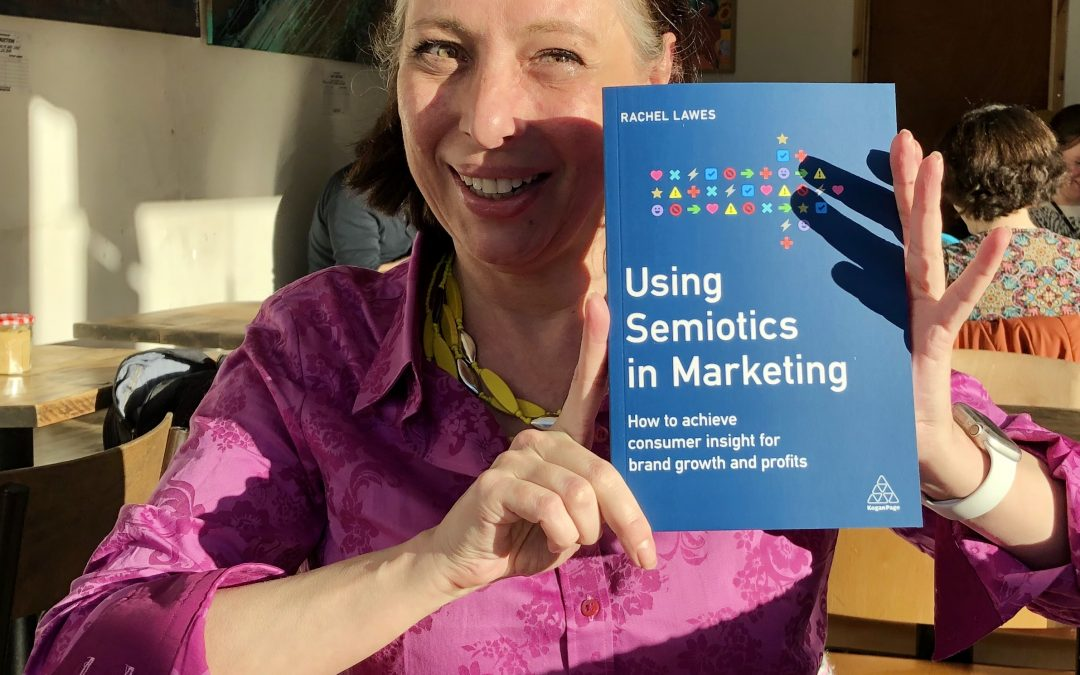 "Unboxing my first book, ""Using Semiotics in Marketing: How to achieve consumer insight for brand growth and profits."""