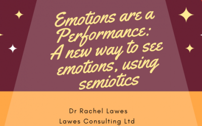 Emotions are a Performance: A new way to see emotions, using semiotics.
