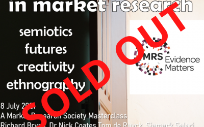 SOLD OUT! MRS Advanced Thinking in Qualitative Research Masterclass 8 July 2021